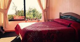 Vista cama del hotel